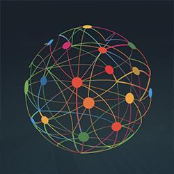 Conexiones de colores en circulo