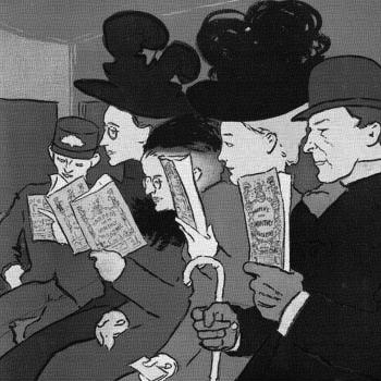 lectores ilustracion clase alta