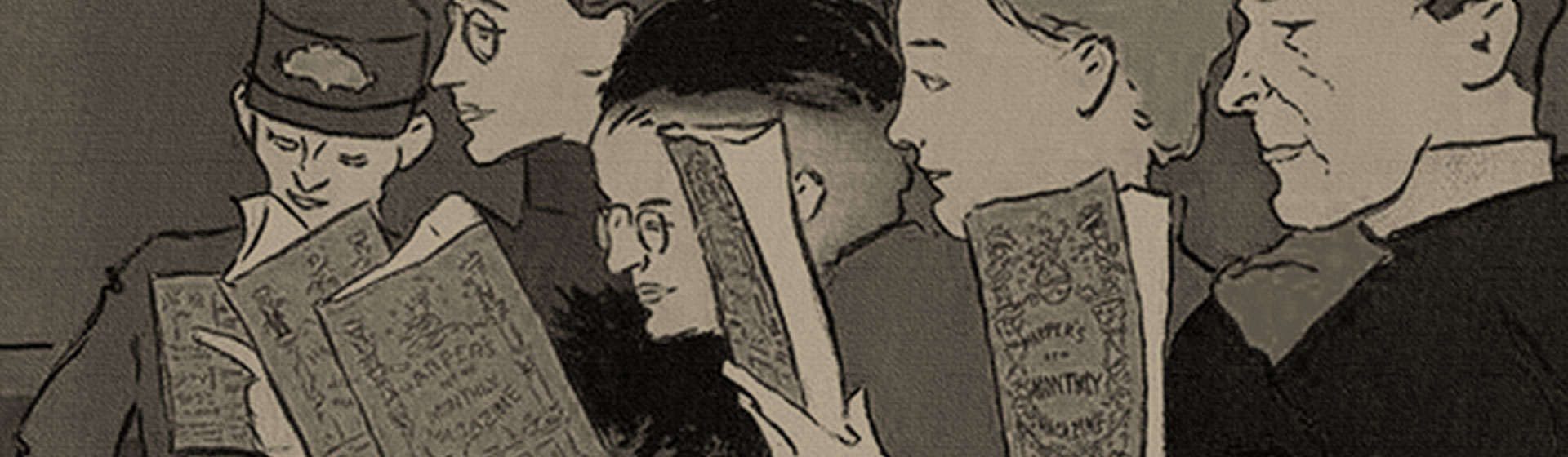 ilustracion personas leyendo