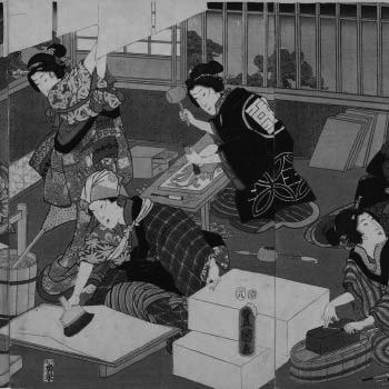 pintura japones geishas
