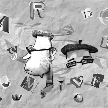 Collage textos personas letras