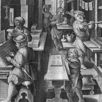ilustracion libros imprenta