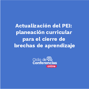actualizacion del PEI: planeación curricular para el cierre de brechas de aprendizaje