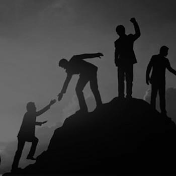personas montaña