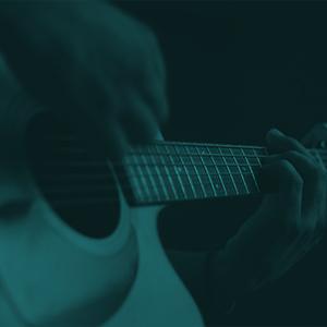guitarra persona mano