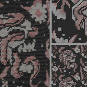 Ilustración en tejido