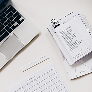 papeles computador notas